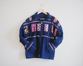 So Cool Hand Made Embroidered Bohemian Jean Denim Jacket