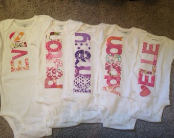 Personalized Baby Girl Bodysuits