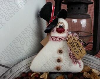 Frost Bite Mini Snowman Pattern #150 - Primitive Doll/Tuck/Ornie Pattern