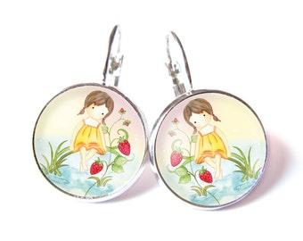 Wild strawberries earrings