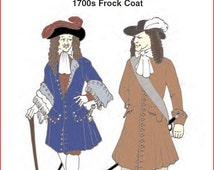 RC702 - 1680s to Early 1700s Frock Coat / Pirate Coat Sewing Pattern by Reconstructing History