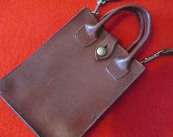 One leather tote bag
