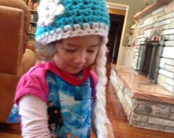 Elsa inspired crochet hat