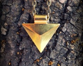 Simple, Long, Geometric Triangle Necklace