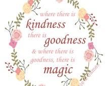 DIGITAL Where there is kindness, goodness, magic CINDERELLA print