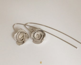 Sterling Silver hanging earrings with Rahman
