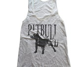 Pitbull Tank, Custom Print Tank Top, Sleeveless Tops, Tanks Women, Oatmeal Tank Top, Custom Shirt, Custom Ink Shirt, Womens Graphic Tank