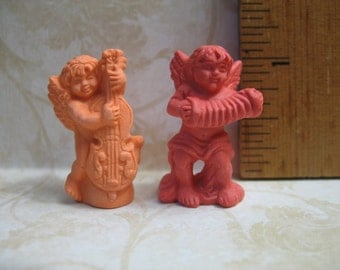 Choir of ANGELS Musicians Putti Cherubs Angel - French Feve Feves Porcelain Doll House Miniatures Y53