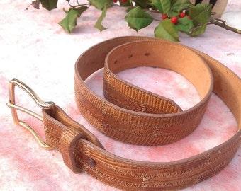 Leather Belt Tony Lama Vintage