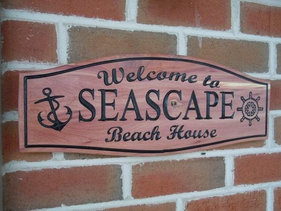 Outdoor Beach Signs Beach House Outdoor Sign