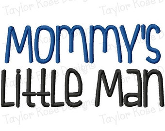 Mommy's little Man!!! Embroidered Shirt, Bodysuit, Burp Cloth, Dish Towel and more!