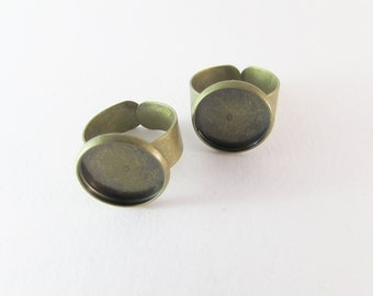 D-00221 - 2 Pad ring base Ant. Bronze 14mm
