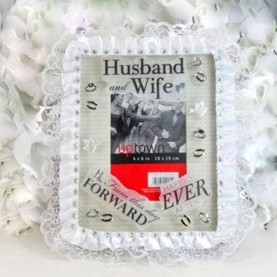 Wedding Gifts - Bride Gifts - Husband And Wife Picture Frame - 4x6 ...