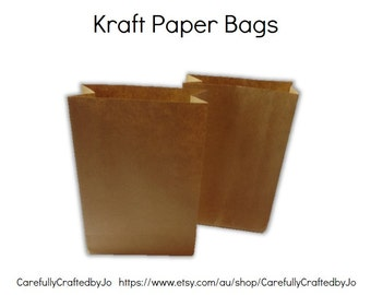 DIY Kraft Paper Bags - 12 x 18cm - Set of 20
