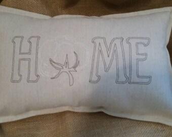 HOME cotton boll pillow