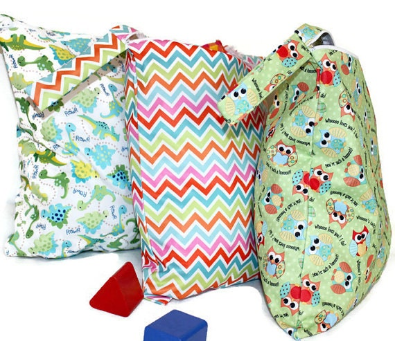 set of 2 wet bags great for baby cloth diapers by juliansboutique. Black Bedroom Furniture Sets. Home Design Ideas