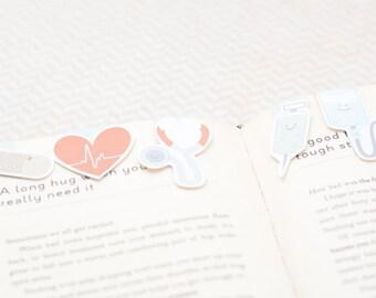 Nurse Mini Magnetic Bookmarks (Mini 5 Pack)