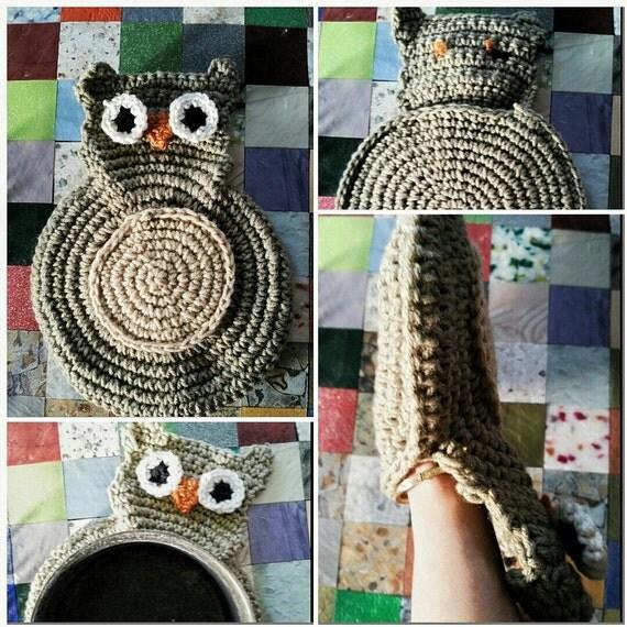 Homemade Pot Holders: Homemade Crochet Owl Pot Holder Hot Pad By SKBfashion On Etsy