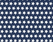 Navy Blue Stars Fabric - Riley Blake - Modern Fabric - 100% cotton. Baby Boy, Patriotic, Nautical, 4th of July - C315-21