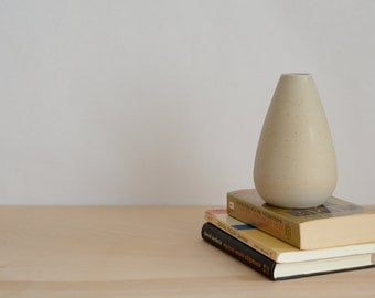 Teardrop Shaped Vase with White Glaze Interior