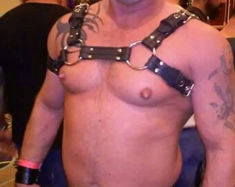 Black Rubber Bulldog Harness