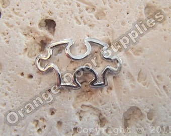 Autism Awareness Puzzle Piece Charm 25mmx15mm- 20 Pcs (ASD108)