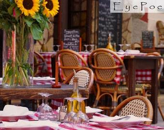 European dining photograph 6x9 photo size 8x12 print 11x17 photography Europe