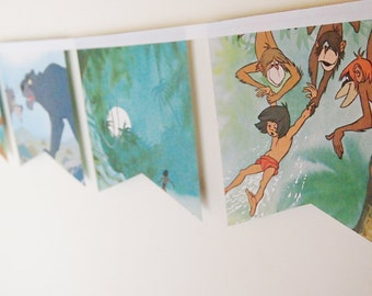 Little Golden Book Bunting - The Jungle Book (vintage)
