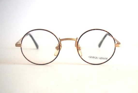 Vintage Giorgio Armani Eyeglass Frames : Vintage Frame Eyeglasses Giorgio Armani mod. 128 Round Metal
