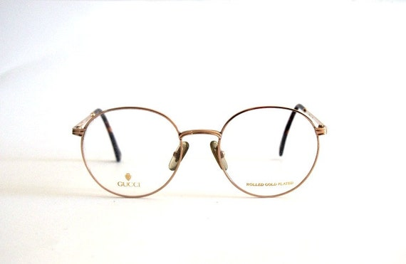 Gucci Wire Eyeglass Frames : Vintage Frame Eyeglasses Round Metal panto Gucci mod. GG1273