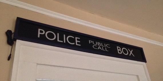 Police Public Call Box Sign