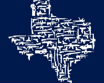 Texas Gun State Navy Shirts