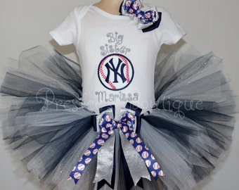 New York Yankee's tutu set! Perfect for a Baseball themed party or for pictures.