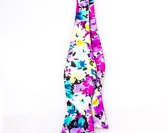 Boys Multicolor Floral Silk Bow Tie