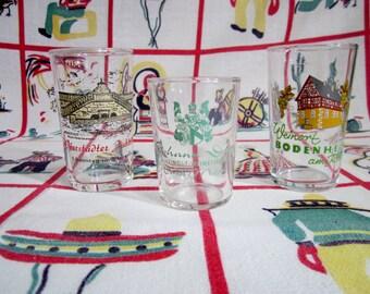 On Sale Vintage, German, Shot Glass, Glasses, Germany, Worrstad, Weinort, Bodenheim am Rhein, Ernst Mosel, September, Sonntag