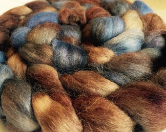 Hand Dyed Alpaca Roving BIOLOGY Free Shipping