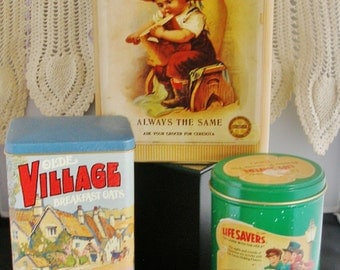 Three Rare Vintage COLLECTOR TINS II