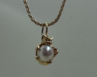 Pearl Cat Pendant