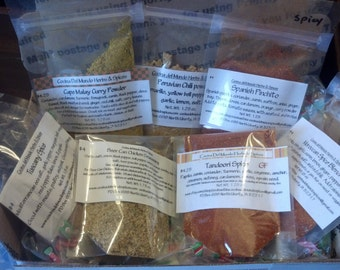 Chicken Seasonings Gift Pouch, 7 Seasonings for Chicken Gift