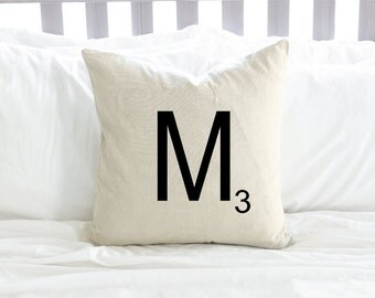 Personalized Scrabble Tile Pillow Cover