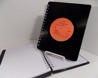 Steve Miller band & Robert Plant - Upcycled vinyl record notebook or journal