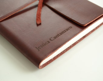 2 Writer's Log Journal Leather Journal, Personalized Journal Engraved Journal, Diary, Notebook, Personalized Engraved Diary, Genuine Leather