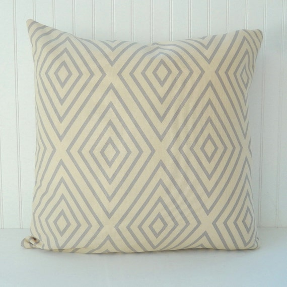 Beige Grey Pillow Cover Throw Pillow Decorative By Pookadellas