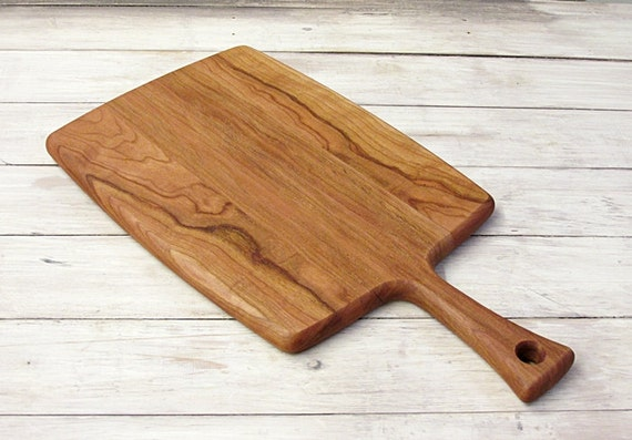 Cutting Board With Dovetail Handle Cherry Wood By Foodiebords