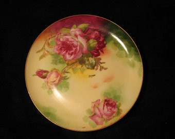 Limoges France Coronet Hand Painted Rose Pattern