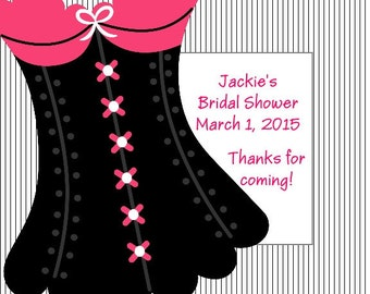60 Lingerie Bridal Shower Favor Tags