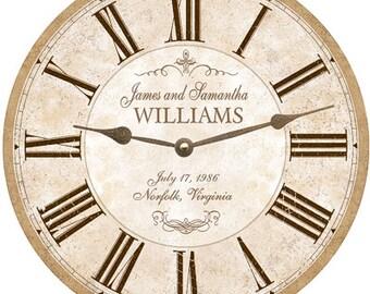 Anniversary Clock- Personalized Anniversary Clock