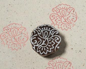 Flower 020, wooden printing block