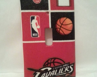 Cavaliers Fan Light Switch Plate Cover.  Decorative Wall Cover. favorite basketball team. Gift for Dad  Electrical Wall Plate Cover.