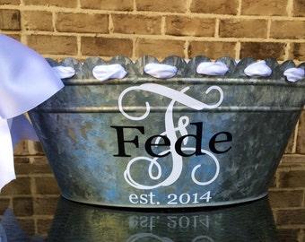 Personalized metal tub
